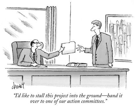 Political cartoon; The New Yorker Magazine